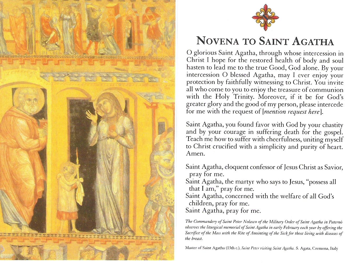 saint agatha guys Please click on the letter that corresponds to your saint's name patron saint rosaries a's st aaron st men's st agatha nurse silver catholic faith store.